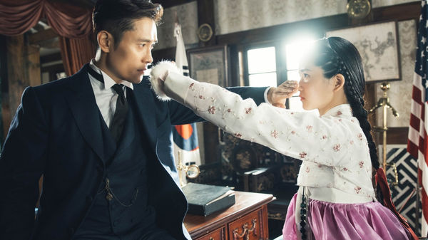 Lee Byung-hun and Kim Tae-ri in Mr. Sunshine. (Photo Courtesy of Hwa&Dam/Netflix)